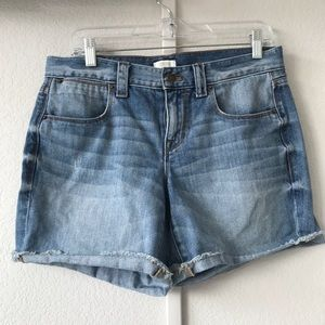 J CREW denim light medium wash jean shorts sz 8